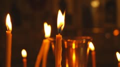 Russian Orthodox Church. Candle Stock Footage