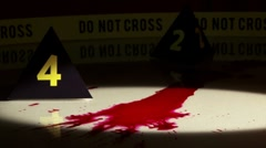 Crime Investigation, bloodstains, flashlight Stock Footage