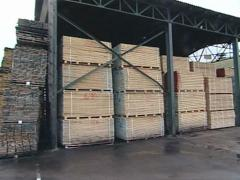 Huge piles of cut boards in sawmill prepared for transportation. Stock Footage