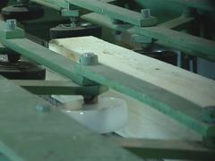 Wooden product made for construction industry from log. Stock Footage