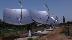 A row of solar panels in Israel. Stock Footage
