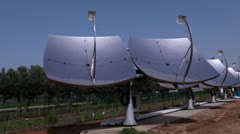 Panorama of a row of solar panels in Israel. Stock Footage