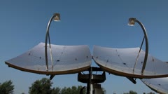 Two solar panels in Israel. Stock Footage
