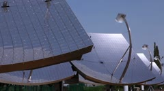 Solar panel mirrors in Israel. Stock Footage