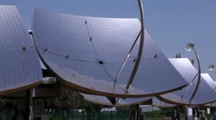 Panorama of solar panel dishes in Israel. Stock Footage