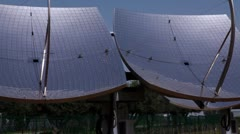 Panorama of solar panels in Israel. Stock Footage