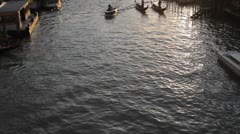 Gondolas on Grand Canal, Venice, Italy Stock Footage