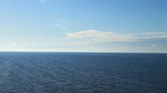 View from the deck of a ship at sea 5 Stock Footage