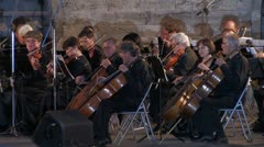 Сlassical symphony orchestra. Stock Footage