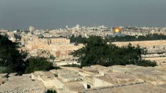 Old Jerusalem and Jewish cemetery in Israel. Stock Footage