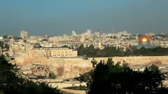Panorama of Old Jerusalem in Israel. Stock Footage