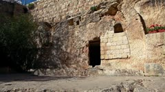 The Garden Tomb in Israel. Stock Footage