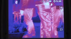 Thermal imaging. FLIR camera. Stock Footage