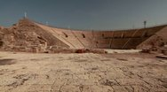 Panorama of the ancient theater at Caesarea in Israel. Stock Footage