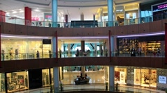 Dubai Mall from inside with buyers, United Arab Emirates Stock Footage