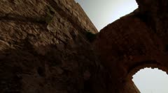 An arch in a Caesarea alley in Israel. Stock Footage