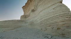 A layered desert rock formation in Israel. Stock Footage