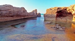 A colorful tidal pool in Israel. Stock Footage