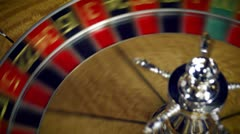Close up of a roulette table spinning. Stock Footage