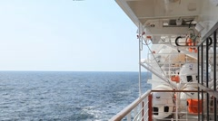 View from the deck of the ship 2 Stock Footage