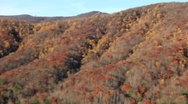 Stock Video Footage of Panorama of scenic autumn mountain overlook