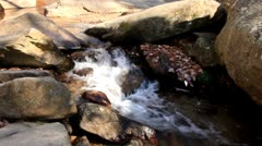 Stock Video Footage of 200 foot mountain waterfall