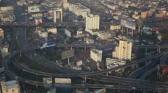 Timelapse Toll Road Commuters Commuting Vehicles Busy Highway Cars Day Bangkok Stock Footage