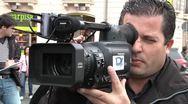 Camera and cameraman Stock Footage
