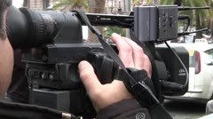 Camera And Cameraman - stock footage