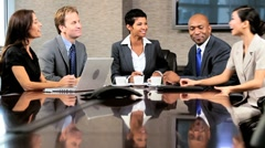 Female Business Executive Meeting Multi Ethnic Team - stock footage