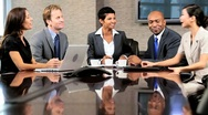 Female Business Executive Meeting Multi Ethnic Team Stock Footage