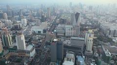Time Lapse Skyline Bangkok, Thailand, Rachaprarop, Pratunam, Skyscraper Stock Footage