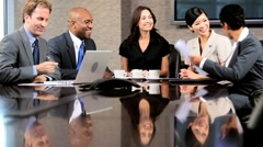 Stock Video Footage of Ambitious Multi Ethnic Business Team in Boardroom