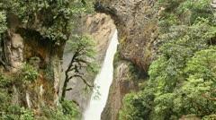 Pailon Del Diablo - Devil's Cauldron, spectacular waterfall in Ecuadorian Stock Footage
