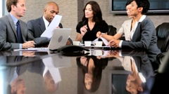 Multi Ethnic Business Group in Boardroom Meeting - stock footage