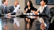 Multi Ethnic Business Group in Boardroom Meeting Stock Footage