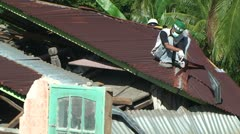 Sumatra Indonesia Earthquake Aftermath Destruction 2009 - stock footage