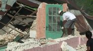 Stock Video Footage of Sumatra Indonesia Earthquake Aftermath Destruction 2009