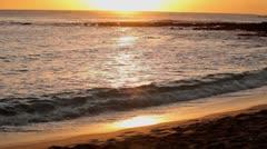 Golden beach water Stock Footage
