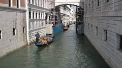 Gondola in Grand canal, Venice Stock Footage