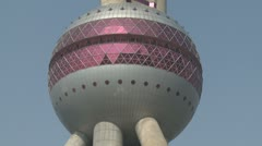 Stock Video Footage of Pearl Of Orient TV Tower In Shanghai China