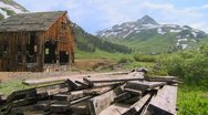 Time lapse shot of an abandoned mine in the Colorado Rocky Mountains. Stock Footage