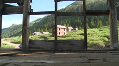 Colorado ghost town as seen through old windows. - stock footage