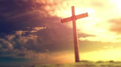 Crucifixion cross background Stock Footage