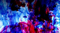 Colors - ink, red blue yellow green - stock footage