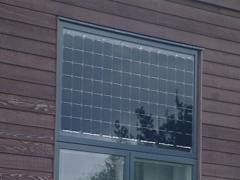 Stock Video Footage of Solar collectors used in residential homes. Green energy.