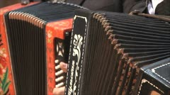 Two old accordion at a concert Stock Footage