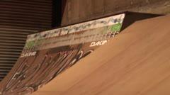 BMX Wallride to Tailwhip Stock Footage