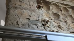 Inside the Skull Tower _8 Stock Footage