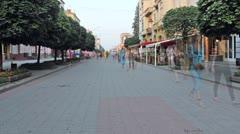 Main Street Timelapse Stock Footage
